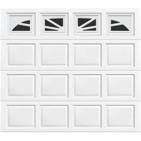 shop wayne dalton  series  ft   ft insulated single garage door  windows  lowescom