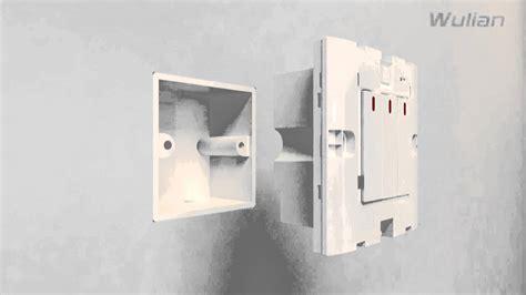 wall mounted light switch of zigbee wireless home automation