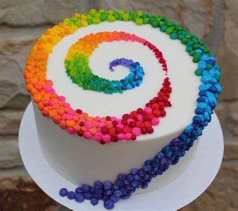 spiral flower rainbow cake food pinterest flower