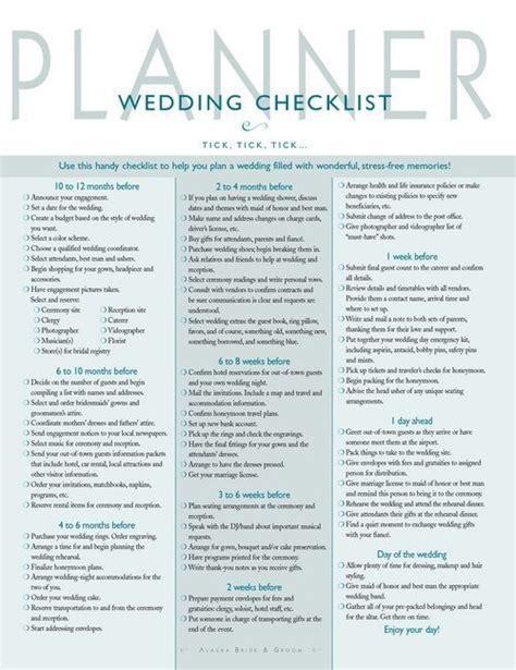 wedding planner checklist wedding checklist wedding misc