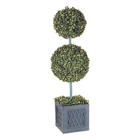 """New Wilson & Fisher Large 35"""" Double Ball Topiary Lighted"""