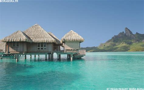 Bora Bora Hut On The Water Beautiful Places Pinterest