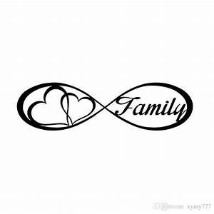2018 For Family Love Heart Infinity Forever Symbol Car