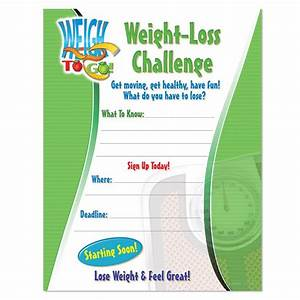 Weight loss challenge laminated poster positive promotions for Weight loss challenge flyer template