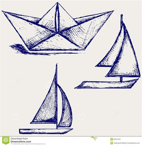 Origami Boat Drawing by Paper Boat Drawing Paper Boat Drawing Origami Tattoos