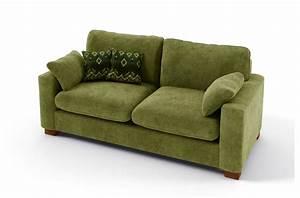 Canapé Convertible Vert : canap 2 places convertible en tissu de qualit cosy vert mobilier priv ~ Teatrodelosmanantiales.com Idées de Décoration
