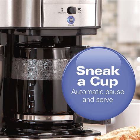 Automatic pause and serve feature for pouring a this is the second time we have bought a hampton beach to a brewery both times after about six months or so eat much the units quit working you could. Hamilton Beach 2-Way Brewer Coffee Maker, Single-Serve and ...