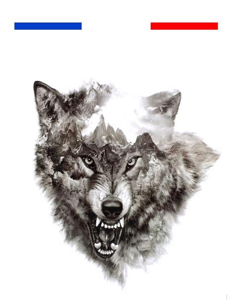 tatouage loup realiste montagne mon petit tatouage