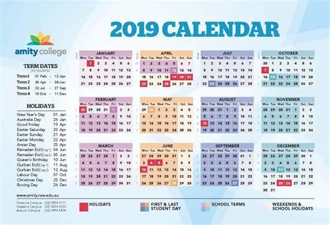 academic calendar amity college