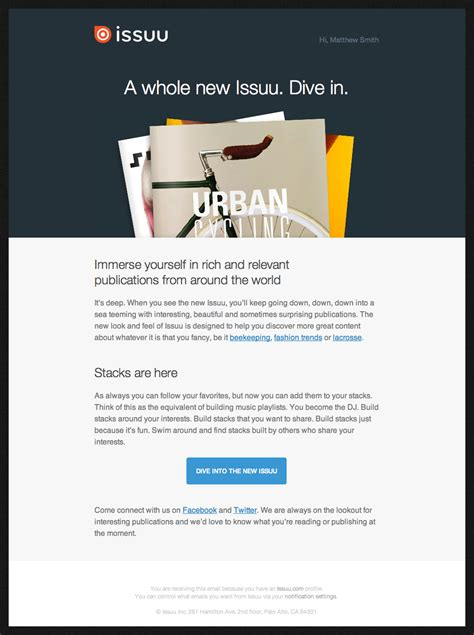 issuu newsletter beautiful email newsletters