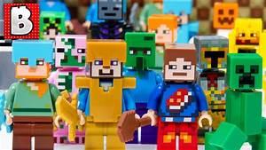 Every Lego Minecraft Minifigure Ever Made!!! + All ...