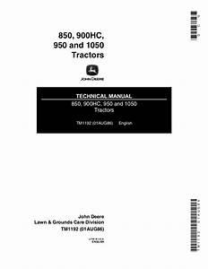 John Deere 850 Tractor Service Repair Manual