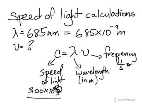 Speed Of Light Calculations Youtube