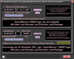 Datumsdifferenz Berechnen : feiertage br deutschland 1 build 31 bei freeware ~ Themetempest.com Abrechnung