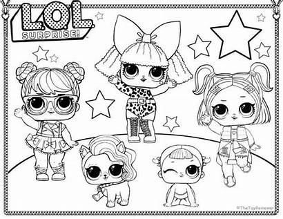 Lol Coloring Doll Pages Printable Unicorn Barbie
