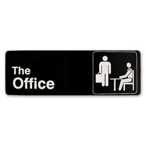 office desk the office sign the office