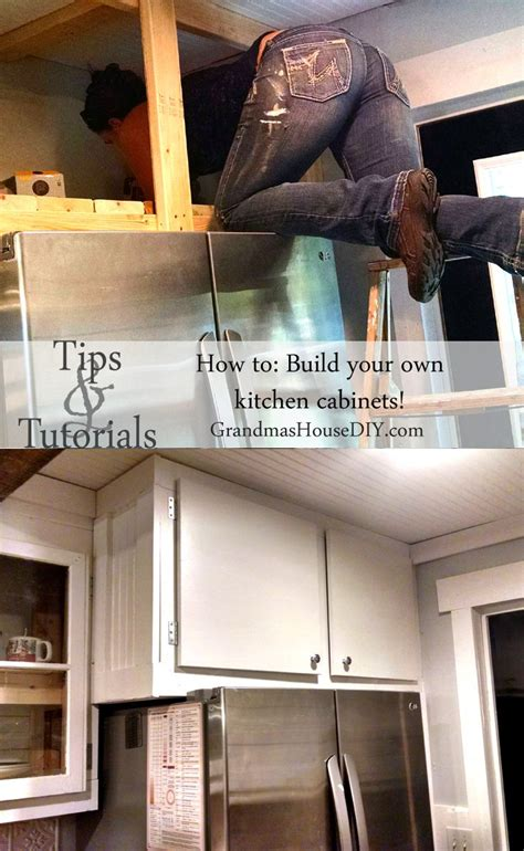 how to make your own kitchen cabinets step by step how to diy build your own white country kitchen cabinets 9969