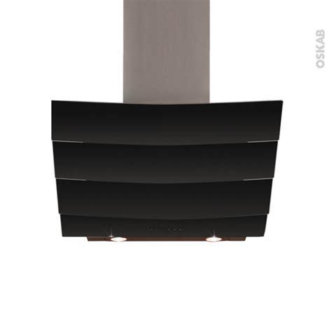 hotte de cuisine 60 cm hotte de cuisine aspirante inclinée 60 cm verre noir