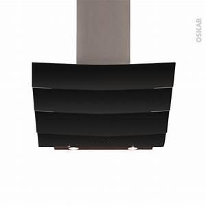 Hotte Noire 60 Cm : hotte de cuisine aspirante inclin e 60 cm verre noir ~ Dailycaller-alerts.com Idées de Décoration
