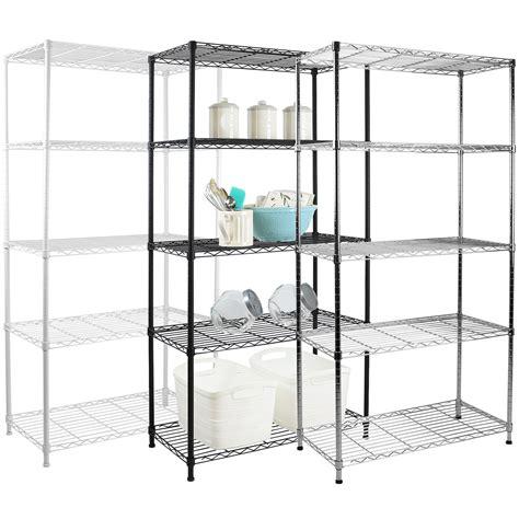 5 Tier Metal Storage Rackshelving Book Shelf Kitchen