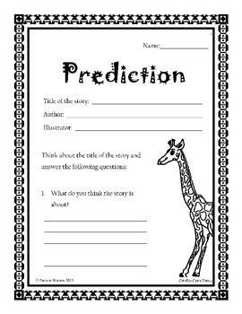 giraffes  dance worksheets  patricia watson tpt