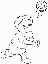 Coloring Volleyball Pages Printable Bestcoloringpagesforkids sketch template