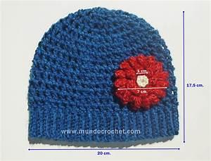 Crochet En S : patron gorro en punto red a crochet o ganchillo con flor ~ Nature-et-papiers.com Idées de Décoration
