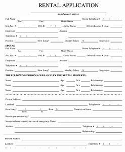 Rental Application Templates