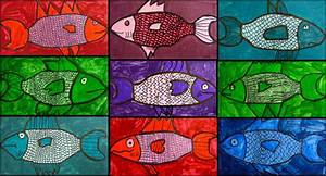 Powepoint Themes Monochromatic Fish Dryden Art