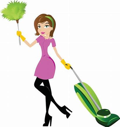 Cleaning Clip Clipart Cliparts Lady Woman Cartoon