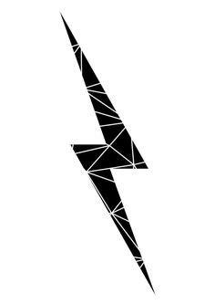 free lightning bolt stencil | Lightening clip art | Lightning bolt tattoo, Lightening bolt