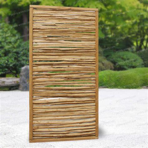 panneau bois jardin panneau cadre en pin et rameaux de noisetier 90x180cm cloture et occultation