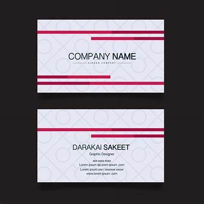 Card Business Simple Template Avery Modern Vector