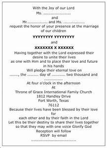Christian wedding invitation wordingschristian wedding for Samples of christian wedding invitations