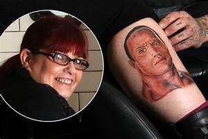 Mum U0026 39 S Bizarre New Tattoo Of The Rock Wrestler On Her Leg