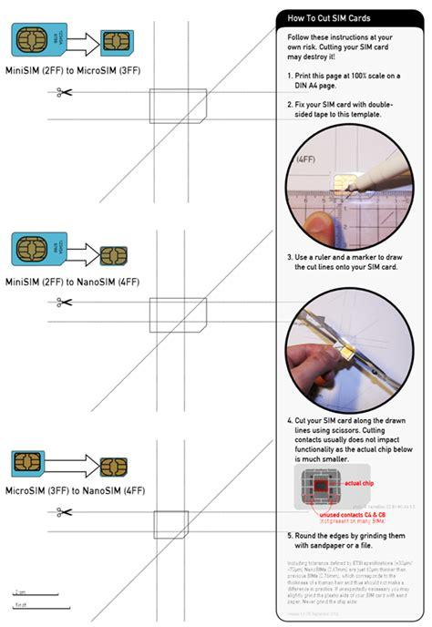 Micro Sim To Nano Sim Template Has Anyone Cut There Microsim To A Nanosim For The Op3