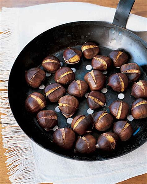 cooking chestnuts how to roast and peel chestnuts martha stewart
