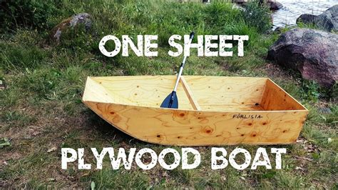 one sheet plywood boat how i made a one sheet plywood boat youtube