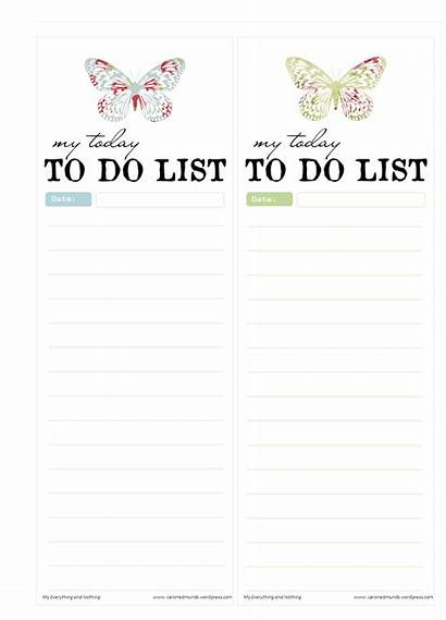 Printable Butterfly Notepads Freebie Daily Lists Template