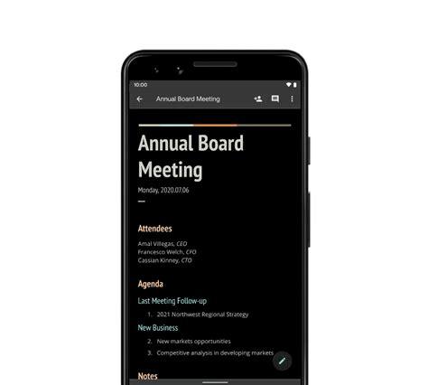 Google Docs, Slides, Sheets บน Android ใช้ Dark Theme ได้ ...