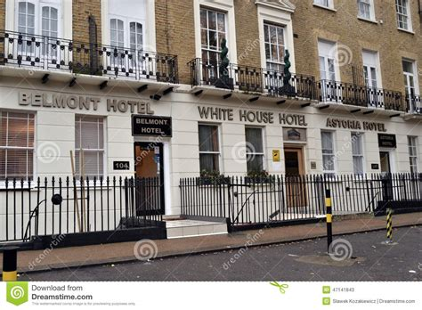 row  budget hotels  london editorial stock photo