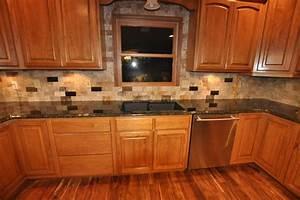 Granite Countertops and Tile Backsplash Ideas - Eclectic