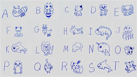 learn alphabet  cartoon drawing abc song  learning