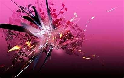 Pink Abstract Wallpapers 3d Backgrounds Screensaver Butterfly