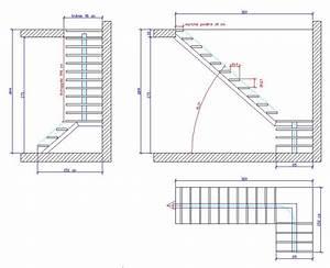 Calcul Escalier Quart Tournant : calcul escalier 1 4 tournant avec palier de repos ~ Melissatoandfro.com Idées de Décoration