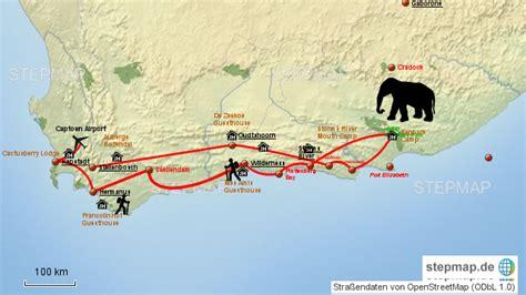stepmap garden route landkarte fuer suedafrika