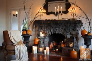 Halloween Decorations Indoors Fireplace