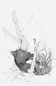 anime girl falling from the sky - Buscar con Google ...