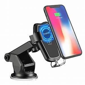 Handy Mit Qi : sonru wireless charger auto qi induktive kfz ladeger t mit auto handy halterung drahtloses ~ Eleganceandgraceweddings.com Haus und Dekorationen