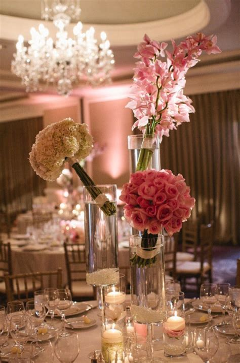 centerpieces with pictures wedding centerpiece ideas with candles archives weddings romantique